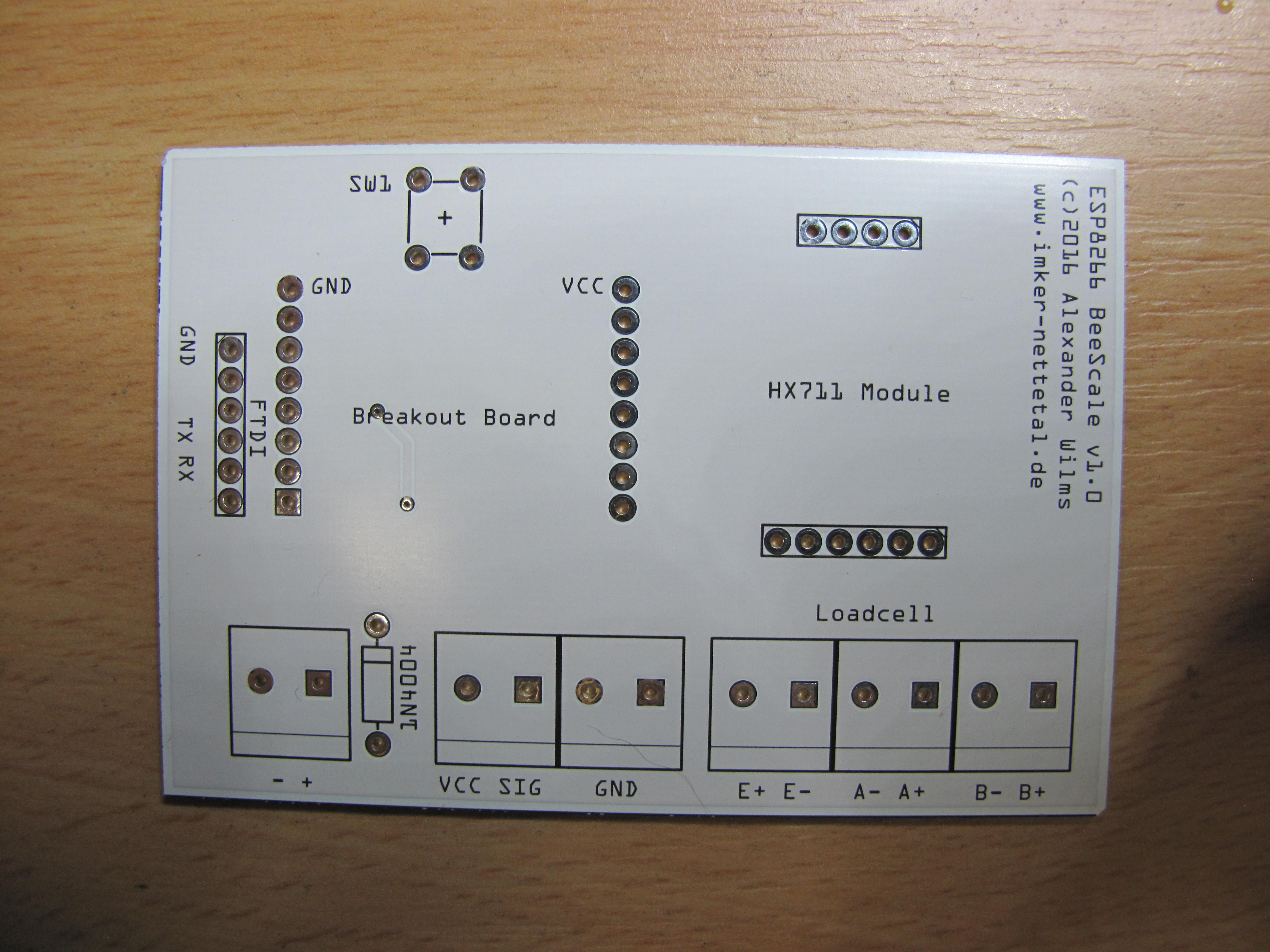 ESP8266 BeeScale - oben